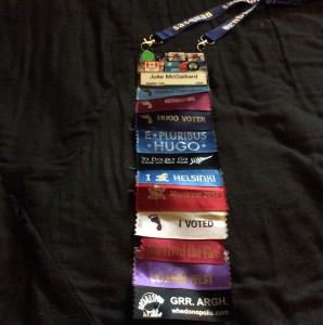 Sasquan badge ribbon extravaganza